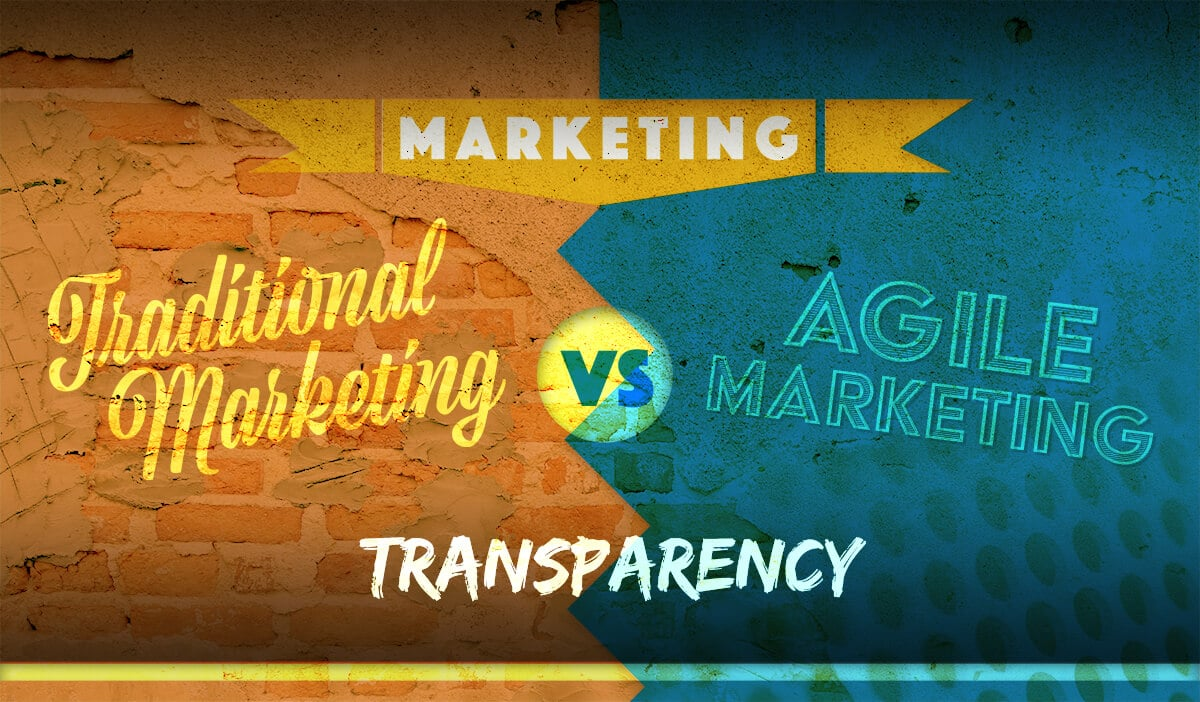 Traditional Marketing vs Agile Marketing Battle : Round 1 - Transparency